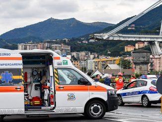 обрушения автомобильного моста в Генуе