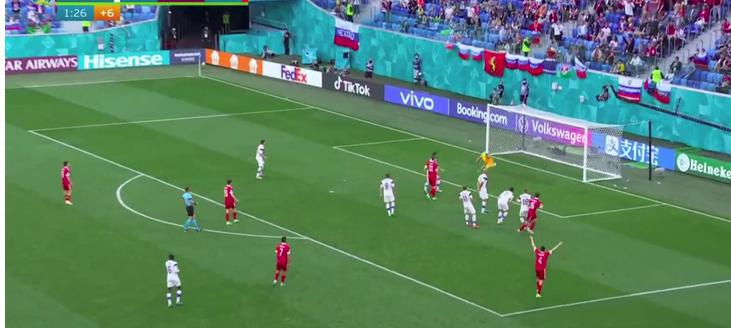 футбольный чемпионат Европы 2021Финляндия:0-1:Россия